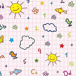 Lar Adesivos Papel de Parede Infantil Escolinha Alfabeto Lavável N4063