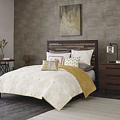 Ink + Ivy Ink+Ivy Kandula King/Cal King Size Quilt Bedding Set - Mustard Yellow, Quilted Floral, Elephants - 3 Piece Bedding Quilt Coverlets - 100% Cotton Percale Bed Quilts Quilted Coverlet