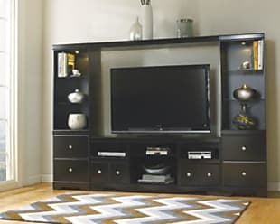 Ashley Furniture Shay 4 Piece Entertainment Center Black