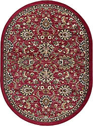 Tayse Leanna Transitional Oriental Red Oval Area Rug, 5 x 7 Oval
