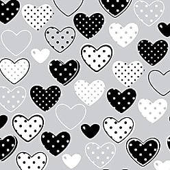 Lar Adesivos Papel de Parede Infantil Coração Menina Corações N4055