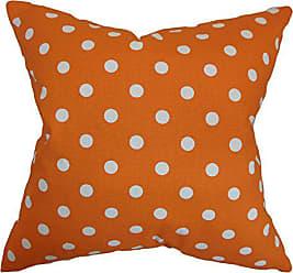 The Pillow Collection Nancy Polka Dots Bedding Sham Orange European/26 x 26