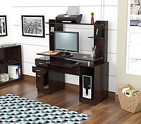 Inval America America CC-4301 Computer Workcenter with Hutch, Espresso