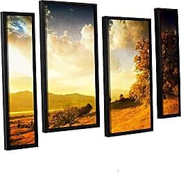 ArtWall 4 Piece Dragos Dumitrascus Autumn Vision Floater Framed Canvas Artwork, 36 x 54