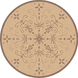 Dynamic Rugs Piazza Vente Round Indoor/Outdoor Area Rug - Natural/Brown - PZ71025423001