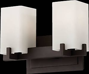 Feiss VS18402-ORB Riva Vanity Strip in Oil Rubbed Bronze finish with Cream Etch Glass