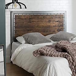 Walker Edison WE Furniture AZBQAWRW Bed/Headboard, Queen, Brown