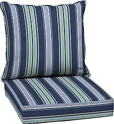 Overstock Arden Selections Sapphire Aurora Stripe Outdoor Deep Seat Set (Blue - Polyester - Hand Wash)