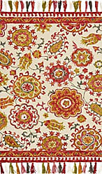 Loloi Rugs FARRFH-01IVBY3656 Farrah Collection Transitional Area Rug, 3-6 x 5-6, Ivory/Berry