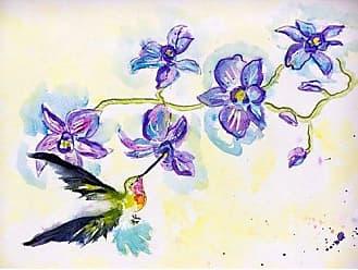 Betsy Drake TP944 Hummingbird & Clematis Wall Hanging 24 x30