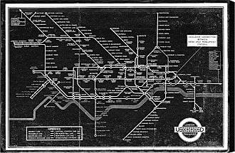 Hatcher & Ethan London Underground Map 1934 Canvas Art - HE11593_60X40_CANV_XXHD_HE