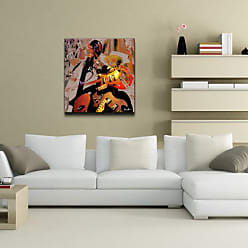 Ready2HangArt Color Jazz XX Abstract Contemporary Canvas Wall Art Print, 30 x 30, Red