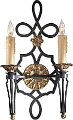 Metropolitan N2100-20 Two Light Wall Sconce in French Black w/Gold Leaf Highlights finish