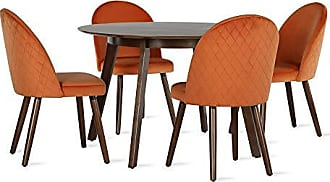 Novogratz DL8454SET Burma Dining Table, Orange