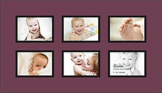 Art to Frames Double-Multimat-90-815/89-FRBW26079 Collage Photo Frame Double Mat with 6-3.5x5 Openings and Satin Black Frame