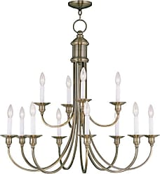 Livex Lighting 5149-LQ Cranford 12 Light 2 Tier Chandelier Antique