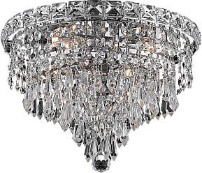 Elegant Lighting 2526 Tranquil Collection Flush Mount D12in H9in Lt:4 Chrome Finish (Royal Cut Crystals)
