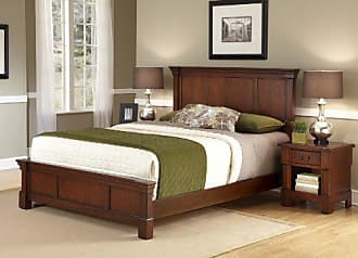 Home Styles Aspen Rustic Cherry King Bed and Night Stand by Home Styles