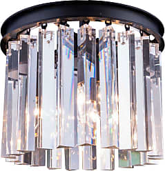 Urban Classic Sydney Collection 12 in. Flush Mount Chandelier Silver-Shade Crystals Polished Nickel - 1208F12PN-SS/RC