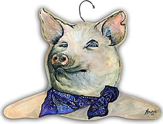 The Stupell Home Décor Collection Pig Wearing Apron Hanger