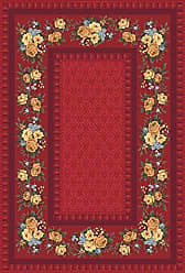 Milliken Carpet Milliken 4000032399 Pastiche Collection Kerri Area Rug 77 x 77 Octagon Currant Red
