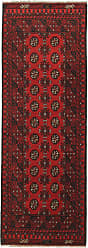 Nain Trading Oriental Afghan Akhche Rug 710x28 Runner Dark Brown/Rust (Wool, Afghanistan, Hand-Knotted)