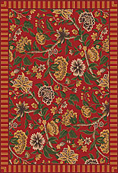 Milliken Carpet 4000032184 Pastiche Collection Vachell Round Area Rug, 77 x 77, Indian red