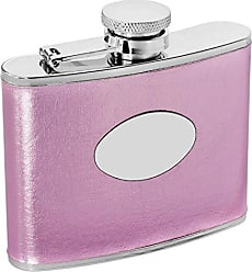 Visol Products VisolSweetheart Stainless Steel Leatherette Hip Flask, 4-Ounce, Pink