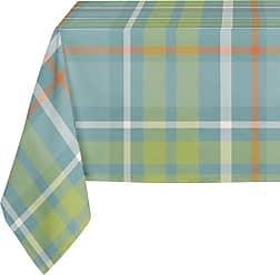 Kavka Designs Blue Green and Orange Plaid Tablecloth - TBC-SPLLT-70X90-NOR229