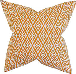 The Pillow Collection Najila Geometric Bedding Sham Orange, King/20 x 36