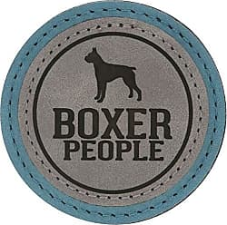 Pavilion Gift Company 67635 2.5 Inch Round Dog Refrigerator Magnet Boxer People Green