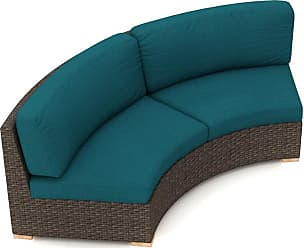 Harmonia Living Outdoor Harmonia Living Arden Eclipse Curved Loveseat with Sunbrella Cushion Spectrum Peacock - HL-ARD-E-CH-CLS-PC
