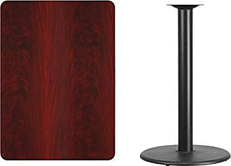 36/'/' ROUND MAHOGANY LAMINATE TABLE TOP WITH 30/'/' X 30/'/' BAR HEIGHT BASE