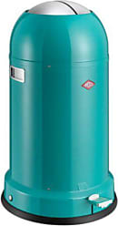 WESCO Kick Master Classic German Designed 8.7 gallon/33 L Step Trash Can, Turquoise