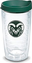 Trevis Tervis 1084928 Colorado State Rams Logo Tumbler with Emblem and Hunter Green Lid 16oz, Clear