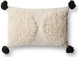 Loloi Rugs DSET Ivory/Black Decorative Accent Pillow, 13 x 21