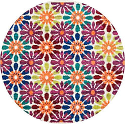 Loloi Rugs Loloi ISBEHIS06IVML300R Isabelle Area Rug, 3-0 x 3-0 Round, Ivory/Multi