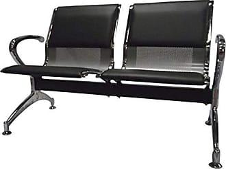 Pelegrin Cadeira Longarina 2 Lugares PEL-9601C Preta - Pelegrin - 3V