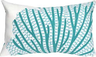 Liora Manne Coral Fan Indoor/Outdoor Pillow Orange - 7SC1S418517