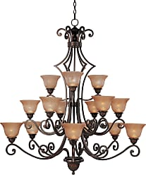 Maxim Lighting Maxim 11239SAOI Symphony 15-Light Chandelier in Oil Rubbed Bronze with Screen Amber glass
