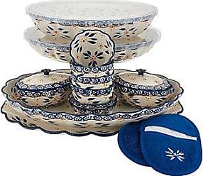 Temp-tations Old World 3-piece Rectangle Bakeware Set w//Ramekins New Light Blue