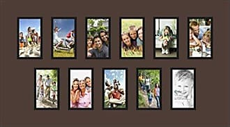 Art to Frames Double-Multimat-900-776/89-FRBW26079 Collage Photo Frame Double Mat with 11-3x5 Openings and Satin Black Frame