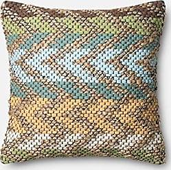 Loloi Rugs Loloi Loloi-PSETP0330GRMLPIL3-Green/Multi Decorative Accent Pillow 22 x 22 Cover w/Poly, 22 x 22, Green/Multicolor