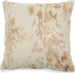 Belham Living Faux Fur Decorative Throw Pillow - Gold - TH020425001HAY