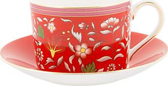 Wedgwood Wonderlust Teacup & Saucer - Crimson Jewel