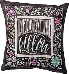 Primitives By Kathy Chalk Art Pillow, 10-Inch Square, Decorative Pillow