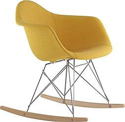 NyeKoncept 332003RO1 Mid Century Rocker Chair, Papaya Yellow