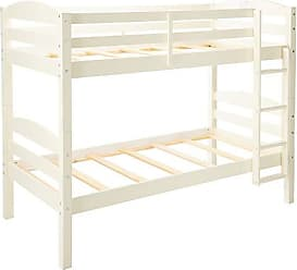 Walker Edison WE Furniture Solid Wood Twin Bunk Bed, White