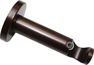 Alle Montage-Teile inklusive 2-l/äufig Durchmesser 20 mm Offen Bronze GARDINIA Deckentr/äger Adapter f/ür Gardinenstangen