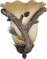 Vaxcel Aspen Wall Sconce - 12.25W in. Pine Tree - AS-WSU120PT